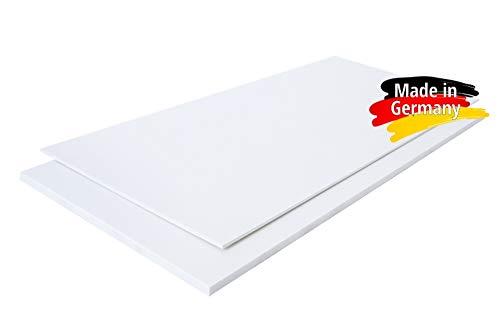 Polystyrol Polystyrolplatte (PS) WEIß und SCHWARZ Verschiedene FORMATE, Stärken: 1mm, 2mm, 3mm, 4mm, 5mm TOP QUALITÄT, Modelbau, Schilder, Bastelplatte (100 x 49cm, 1mm WEIß)