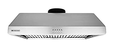 XtremeAir UL11 Under Cabinet Mount Range Hood with 900 CFM Baffle Filters
