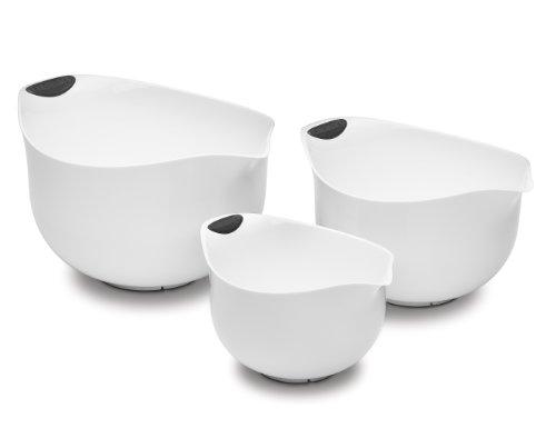 Cuisinart Set of 3 BPA-free Mixing Bowls, White