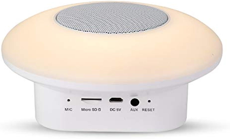 LXDER Kreatives Buntes Atmosphren-Nachttischlampen Audio des Blautooth-Sprechers Tragbares Drahtloses Berührbares Geschenknachtlicht