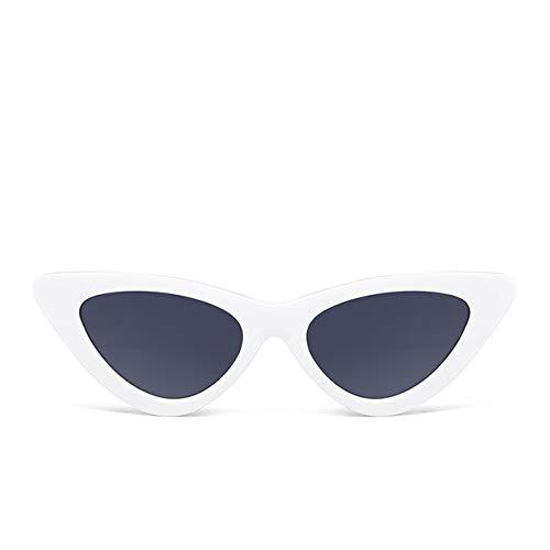 NJIANGHUA Sonnenbrille Für Frauen Cat Eye Sonnenbrillen Frauen Dreieck Small Frame Brillen Reb Blau Grün Linse Sonnenbrille Uv400 Damen Brillen