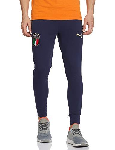 PUMA Herren Jogginghose FIGC Casuals Sweat Pants, Peacoat/Team Gold, S, 757230