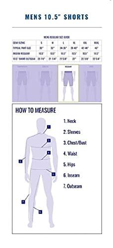 Huk Men's Standard Next Level Quick-Drying Performance Fishing Shorts, Charcoal-10.5