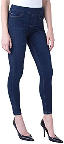 Liverpool Women s Sienna Pull on Ankle in Silky Soft Blue Denim Jeans Griffith Super Dark 12 product image