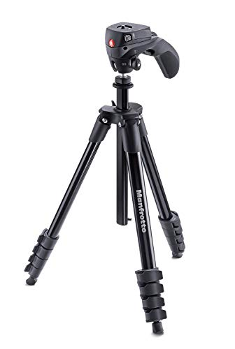 Manfrotto MKCOMPACTACN-BK Compact Action Stativ, schwarz