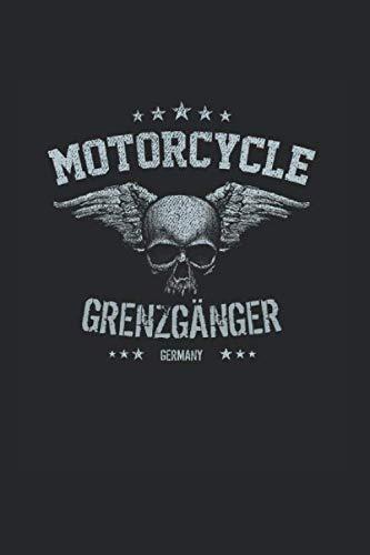 Grenzgänger Totenkopf Motorrad Tuning Biker Rocker: Liniertes Notizbuch & Journal | 6
