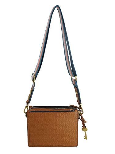 Fossil Damen Handtasche Tasche Schultertasche Campbelle E Crossbody Leder Braun