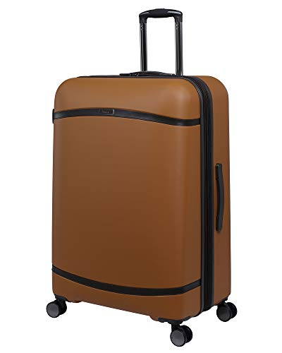 it luggage Quaint Hardside Expandable Spinner, Brown with Mulch Trim, 32-Inch