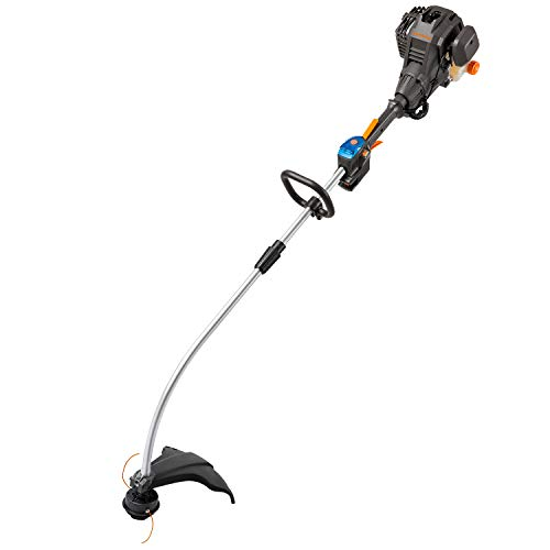 LawnMaster NPTGCP2517B No-Pull Gas String Trimmer with Electric Start 25cc 2 Cycle,17-Inch