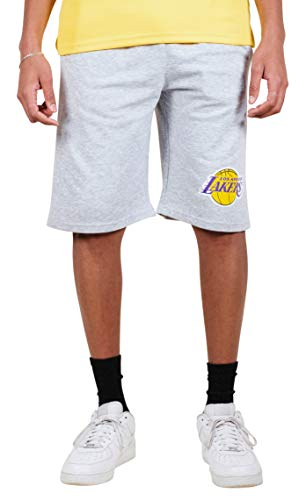 Ultra Game NBA Los Angeles Lakers Mens French Terry Shorts, Heather Gray, Large
