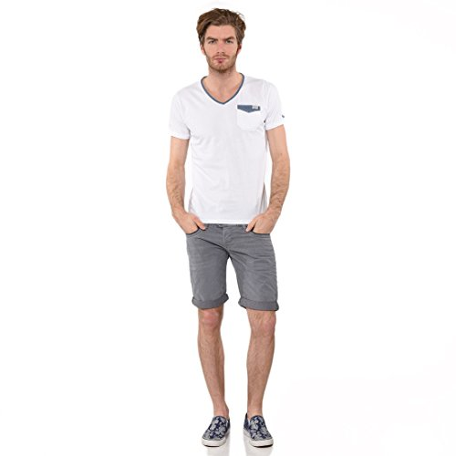 Kaporal - T-shirt - Uni - Col V - Manches courtes - Homme - Blanc (White) - X-Large (Taille fabricant : XL)