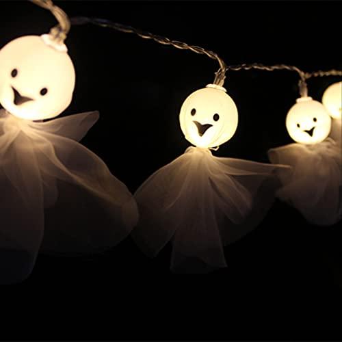 Tela Halloween Fantasy Light String Led Ghostface Light String Interior And Exterior Decoration Light String Ghost Festival Light String 1.5