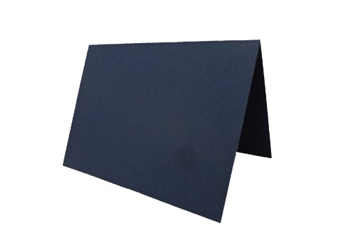 """Blank Navy Place Cards Tent Cards - 50 Pack 