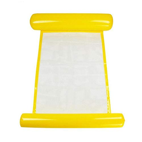BGPOM Hammock Water Single People Increase Inflatable Air Mattress Beach Lounger Floating Outdoor Foldable Sleeping Bed-Yellow