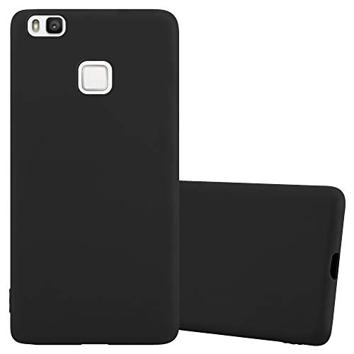 Cadorabo Custodia per Huawei P9 Lite in Candy Nero - Morbida Cover Protettiva Sottile di Silicone TPU con Bordo Protezione - Ultra Slim Case Antiurto Gel Back Bumper Guscio