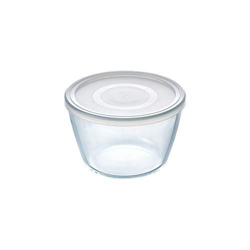 Pyrex Cook&Freeze Recipiente Redondo con Tapa, 12cm-0,6L, Vidrio borosilicato Extra Resistente, Apto para Horno