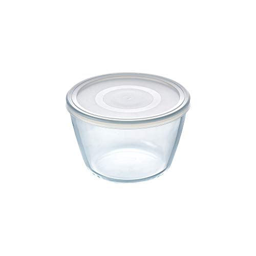 Pyrex Cook&Freeze Round Container with Lid, 12 cm-0.6 L, Extra Resistant Borosilicate Glass, Oven Safe
