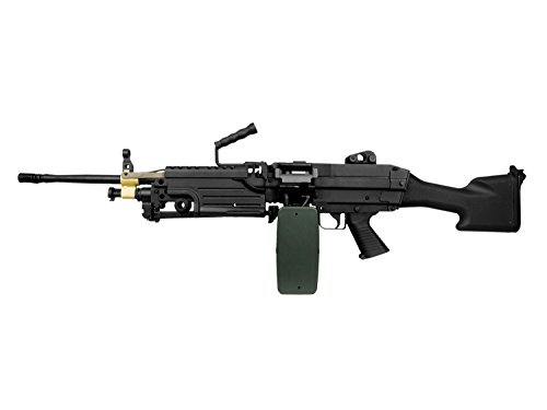 A&K M249 MK2 Vollauto Softair/Airsoft Light Machine Gun Maschinengewehr -schwarz- < 0,5 Joule
