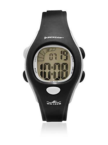 Dunlop Unisex Erwachsene Digital Quarz Uhr mit Gummi Armband DUN131M01