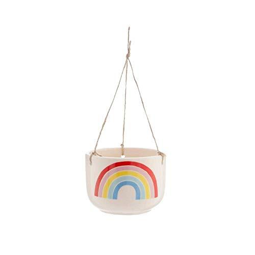Sass & Belle Farbenfroher Blumentopf zum Aufhängen, Regenbogenfarben