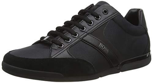 BOSS Herren Saturn_Lowp_MX Sneaker, Schwarz (Black 001), 44 EU