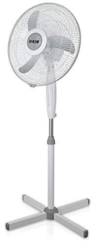 HJM VP40 Ventilador pie, 50 W, Plástico, 3 Velocidades, Blanco