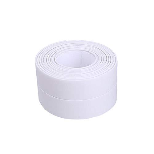 Muur Hoek Afdichtingstape PVC Waterdichte Zelfklevende Tegel Scheur Gootsteen Rand Reparatie Afdichtband Tape Keuken Badkamer Spleetstrip, Wit-3,2 mx 2,2 cm