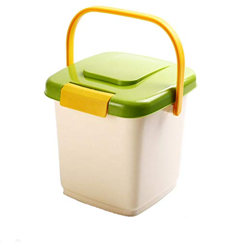 QML 3-5KG Sealed Cat Food Barrel Pet Dry Food Container Anti-Oxidation Dog Food Storage Bucket Roller with Spoon