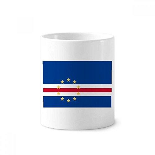 Kap Verde National Flagge Afrika Land Keramik Zahnbürste Stifthalter Becher weiß Tasse 350ml Geschenk