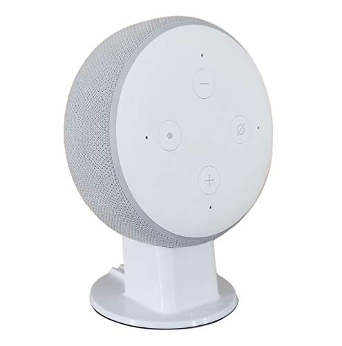 Mount Genie Dot 3rd Generation Pedestal Table Holder | Improves Sound Visibility and Appearance | Designed in USA (White)
