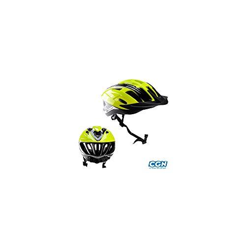 Motodak fiets/mountainbike polisport Ride in neongeel/zwart in-mold met verstelbaar van de stad 52/58