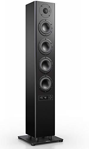 Nubert nuPro A-500 Standlautsprecher | Lautsprecher für Stereo & Musikgenuss | Heimkino & HiFi Qualität auf hohem Niveau | aktive Standbox mit 3 Wege Technik | Kompakte Standbox Schwarz | 1 Stück