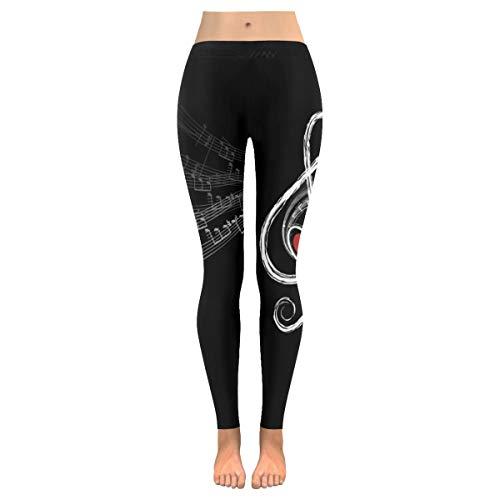 QUEMIN Pantalones de Yoga para Mujer, Treble Loveusic Note Leggings Capri elásticos Personalizados Pantalones Ajustados para Yoga Correr Pilates Gimnasio XL