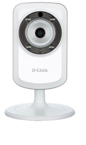 D-Link DCS-933L Überwachungskamera (Wireless N, mit WLAN Repeater, Tag und Nacht, Geräusch - und Bewegungserkennung, mydlink-App für iOS und Android) weiß