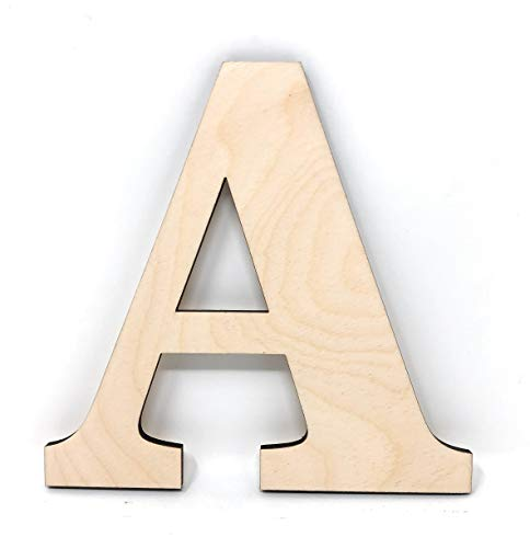 Gocutouts 12' Wooden A Unfinished Wooden Letters Paint Ready Wall Decor News (12' - 1/4' Thick, A)