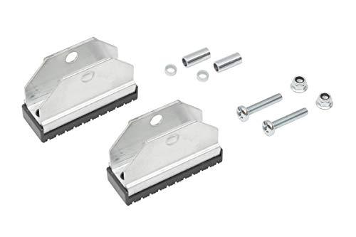 HYMER 0052054 Klappfußset mit rutschsicherem Gummibelag für Leiternholmbreite 60-100 mm