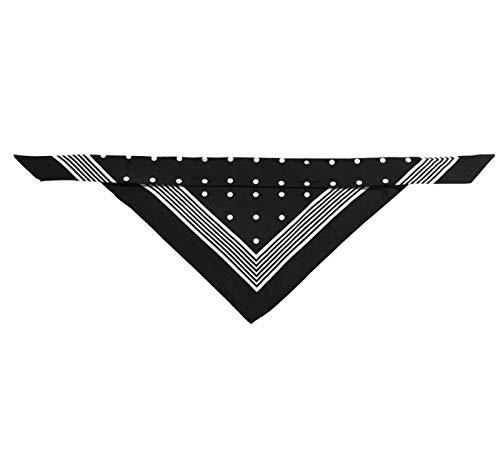 HUNTER Nicky-Tuch mit Schlaufe, Baumwolle, schwarz