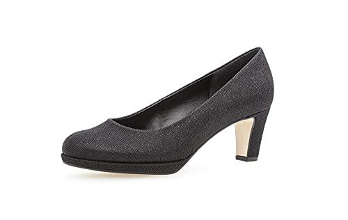 Gabor Damen Plateaupumps, Frauen Plateau Pumps,Court,Shoes,hochhackige,Women's,Woman,Lady,Ladies,Absatzschuhe,high,Heels,schwarz,40 EU / 6.5 UK