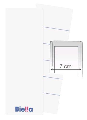 100 BIELLA 7cm ORDNER RÜCKENSCHILD REITER 51x145 mm ETIKETTEN BESCHRIFTUNG