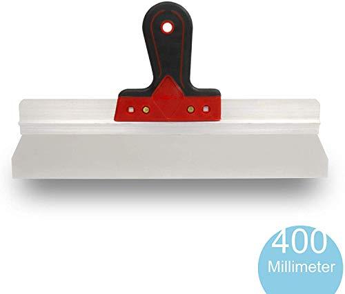 rokkel® Flächenspachtel 400mm - rostfreie Edelstahlklinge mit leichter Flexibilität und rutschfestem Griff zum glätten und abziehen von großen Flächen