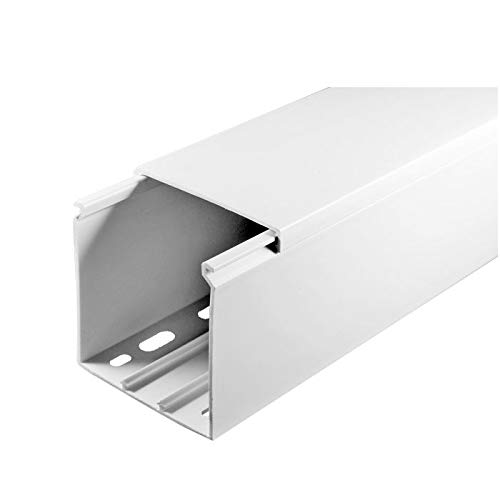 SCOS Smartcosat SCOSKK57  10 m Kabelkanal (L x B x H 2000 x 60 x 60 mm, PVC, Kabelleiste, Schraubbar) weiß