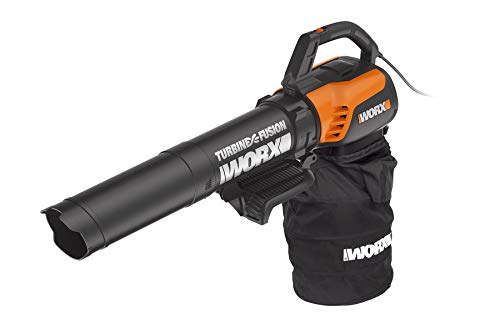 WORX WG510 TURBINEFusion 12 Amp Electric Leaf Blower/Mulcher/Vacuum (Renewed)