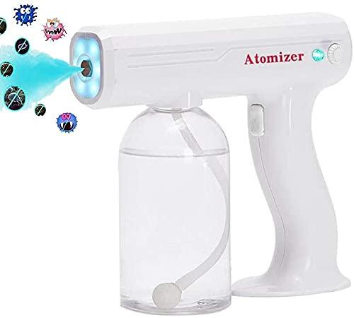 Pulverizador eléctrico portátil Portable Light Light Blue Sprayer Nano, pulverizador de ulvo eléctrico de mano, ajustable, utilizado para el hogar, oficina, desinfección, esterilización, desodorizació