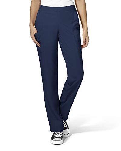 WonderWink Plus Size Women's Full Elastic Pant, Navy, 2-X-Large