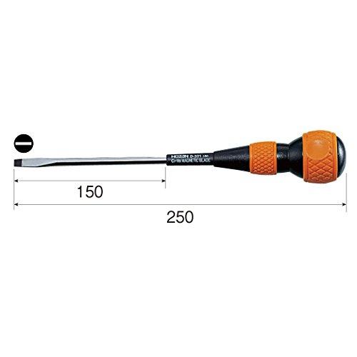 Hozan D-331-150 Ball Grip Screwdriver