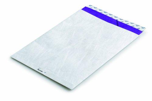 Bong Versandtasche Tyvek C4, 229x324 mm, mit Fenster, mit Haftklebung und Abdecksstreifen, weiß 55 g/qm, reißfest und wasserabweisend, 5 Kleinpacks á 20 Stück