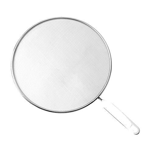 YARUI Splash-proof filter 29 cm diameter, stainless steel, silver, handle15 cm