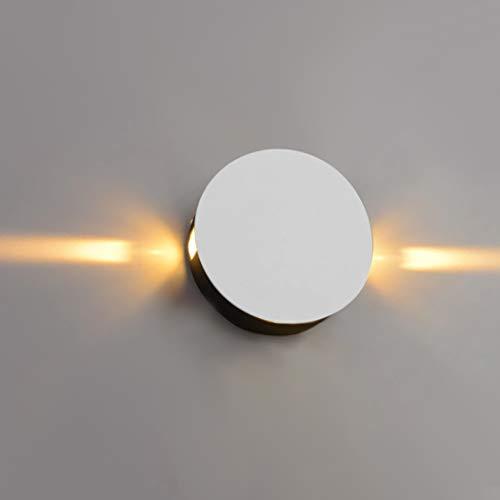 LED wandlamp binnen 2 W aluminium wandlamp ronde vorm voor trap slaapkamer keuken woonkamer badkamer eetkamer wandlampen moderne LED wit