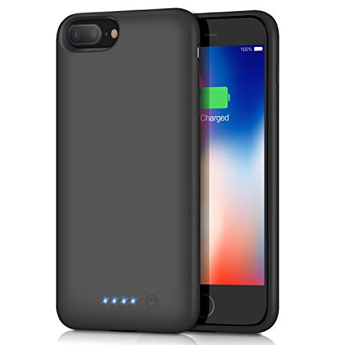 Battery Case for iPhone 8 Plus/7 Plus, Upgraded 8500mAh Portable Protective Charging Case for iPhone 8 Plus Rechargeable Extended Battery Pack Charger Case for Apple iPhone 7 Plus Power Bank(5.5 inch)