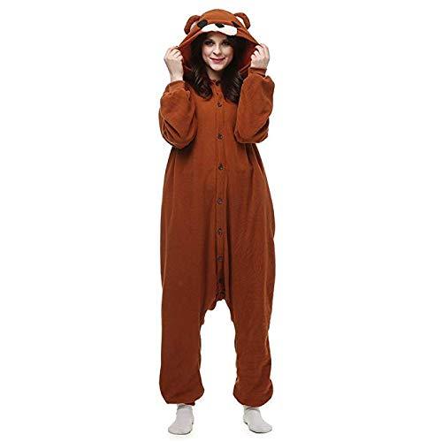 Unisex Adult Onesie Pajamas Christmas Bear Animal Cosplay Sleepsuit Costume (X-Large)